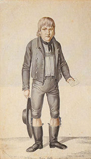 Illustration of Kaspar Hauser, one of the better known cases of feral children.